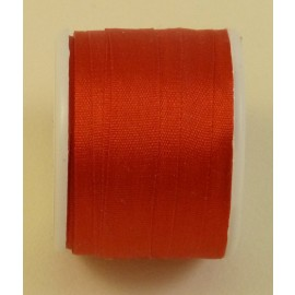 Silk ribbon 7 mm red