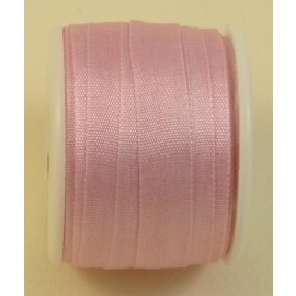 Silk ribbon 7 mm rose dragée