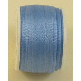 Silk ribbon 7 mm blue sky