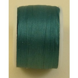 Silk ribbon 7 mm emerald