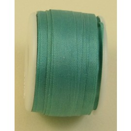 Silk ribbon 7 mm water green