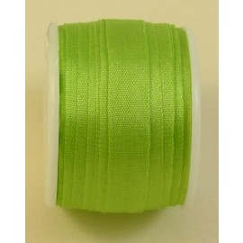 Silk ribbon 7 mm lemon green