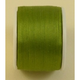 Silk ribbon 7 mm olive green