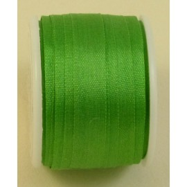 Silk ribbon 7 mm bright green