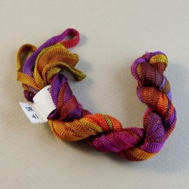 Viscose ribbon 4 mm from purple to yellow