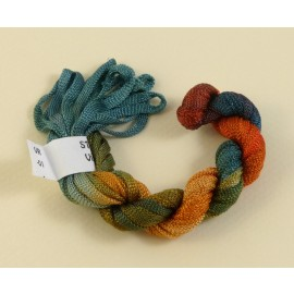 Viscose ribbon 4 mm from green to orange