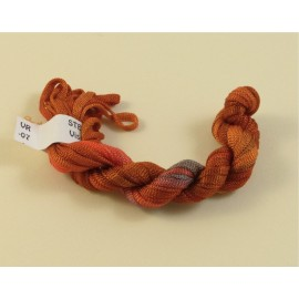 Viscose ribbon 4 mm dark orange color-changing