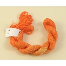 Ruban viscose orange clair changeant