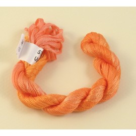 Viscose ribbon 4 mm orange color-changing