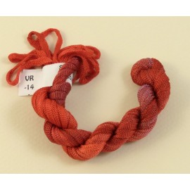 Viscose ribbon 4 mm pinky red color-changing