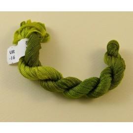 Viscose ribbon 4 mm  green tea color-changing