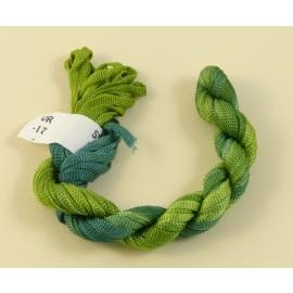 Viscose ribbon 4 mm green color-changing