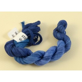 Viscose ribbon 4 mm periwinckle blue color-changing