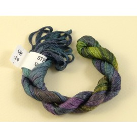 Viscose ribbon 4 mm from green to purple