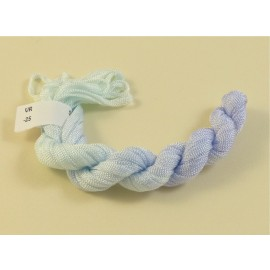Viscose ribbon 4 mmvery light blue color-changing