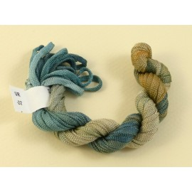 Viscose ribbon 4 mm from blue to beige
