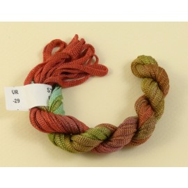 Viscose ribbon 4 mm from green to copper red