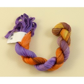 Viscose ribbon 4 mm from violet to orange