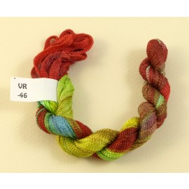 Viscose ribbon 4 mm from green to carmin red
