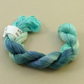 Viscose ribbon 4 mm aquamarine color-changing