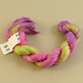Viscose ribbon 4 mm from light green to light pink