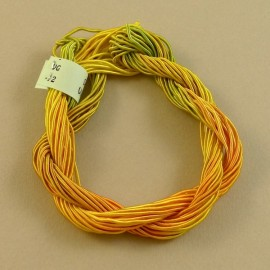 viscose gimp yellow orange and green