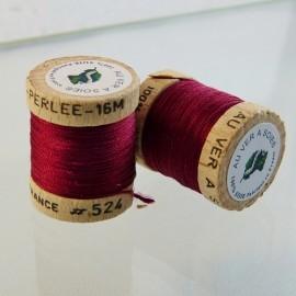 Perlé silk bordeaux Au ver à Soie n° 524
