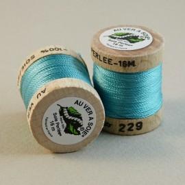 Perlé silk  blue lagoon Au ver à Soie n°229