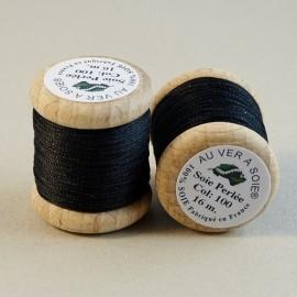 Perlé silk black Au ver à Soie