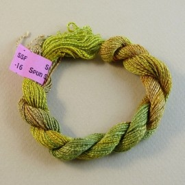 Spun silk with flames green tea color-changing