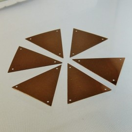 Triangular sequin 36 mm bronze