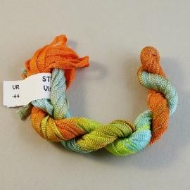 Viscose ribbon 4 mm dark and light orange and green